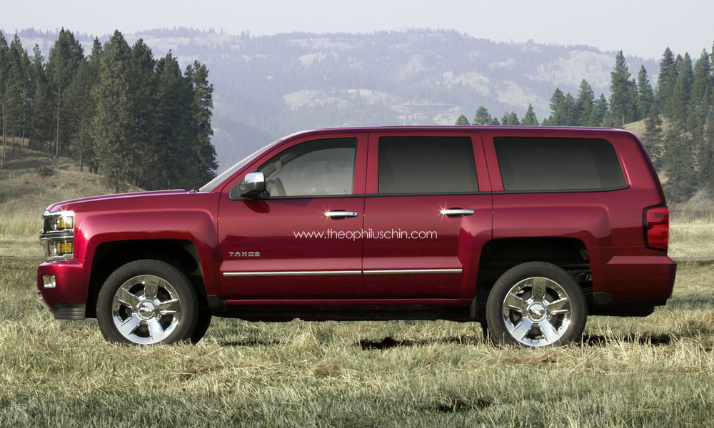 Next gen 2014 chevrolet tahoe rendering autoevolution