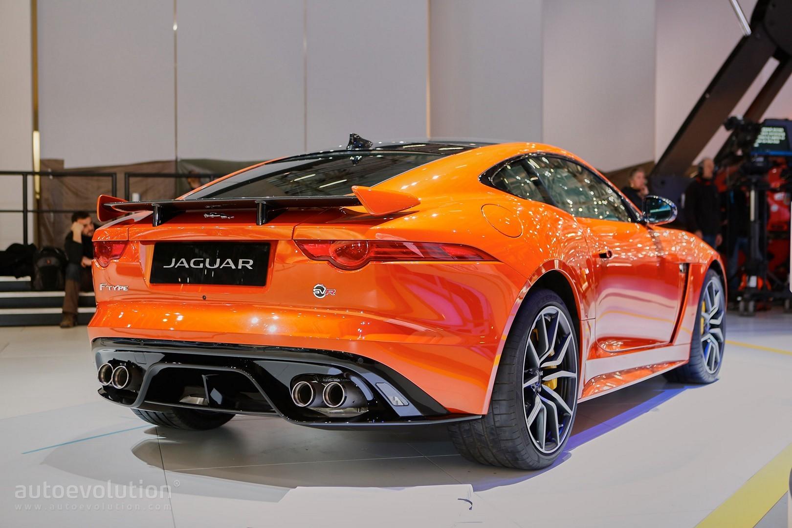 ... Jaguar F Type SVR Coupe And Convertible Live Photos