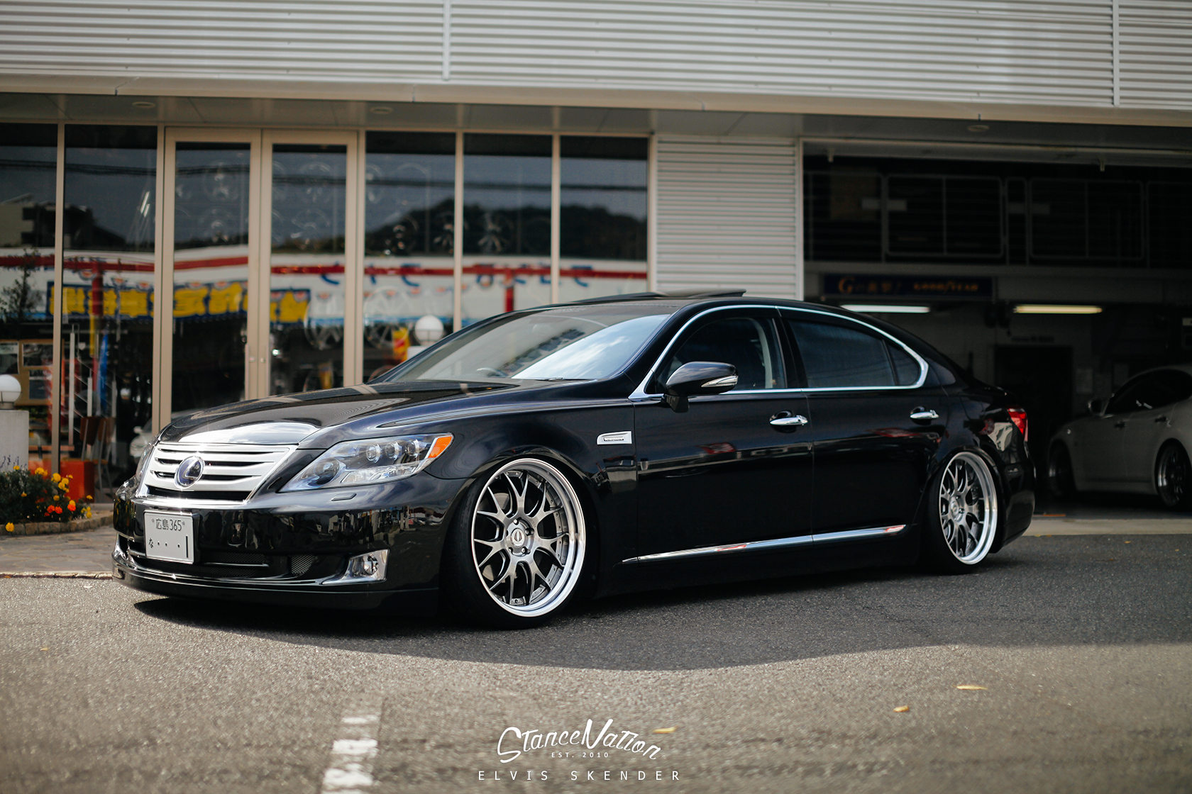 Nicely Stanced Aimgain Japan Lexus Ls 460 L Autoevolution