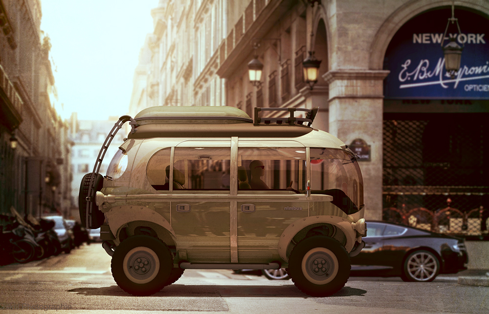 nimbus ecar is a supercool adventure vehicle from your