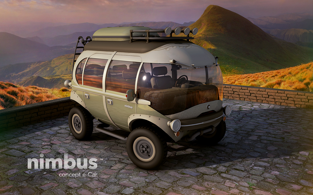 nimbus e car is a super cool adventure vehicle from your. Black Bedroom Furniture Sets. Home Design Ideas