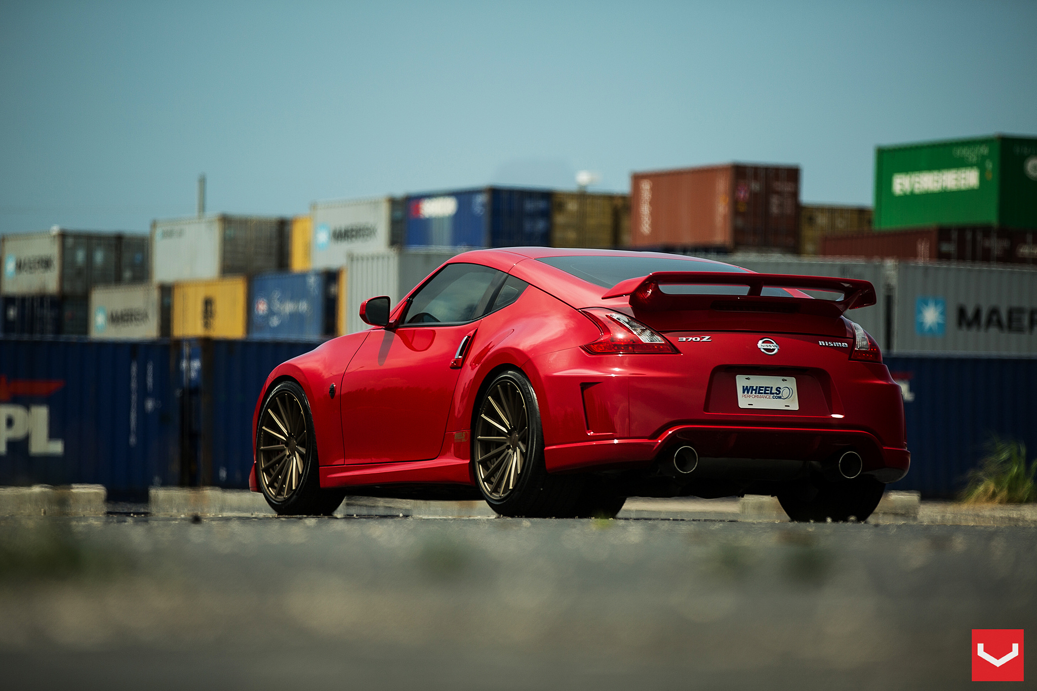 Nismo 370z Goes Red Hot On Vossen Wheels Video
