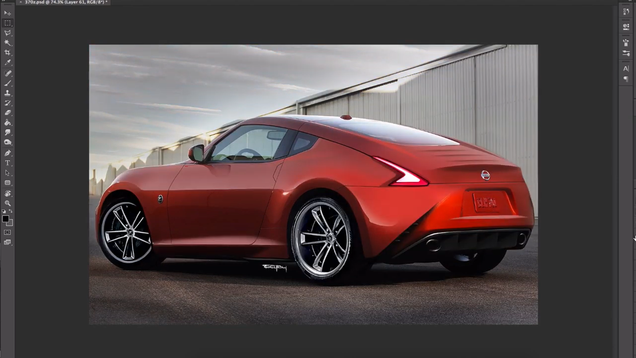 Nissan 370z Redesigned To Look Modern