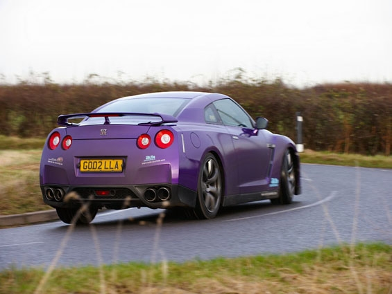 Nissan Gt R Gets Purple Wrapping Autoevolution