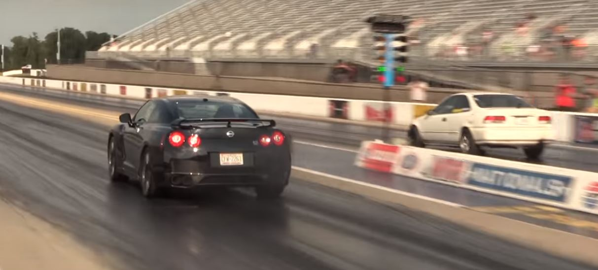 Nissan GT-R vs. Old Honda Sleeper Drag Race Ends in Humiliation ...