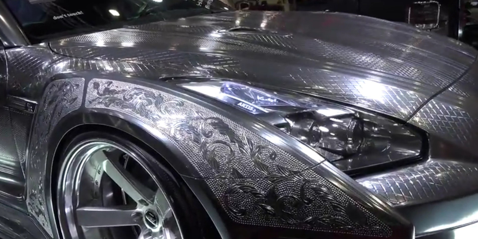 Winter Tires For Sale >> Nissan GT-R with Engraved Silver Body by KUHL Is Needlessly Awesome - autoevolution