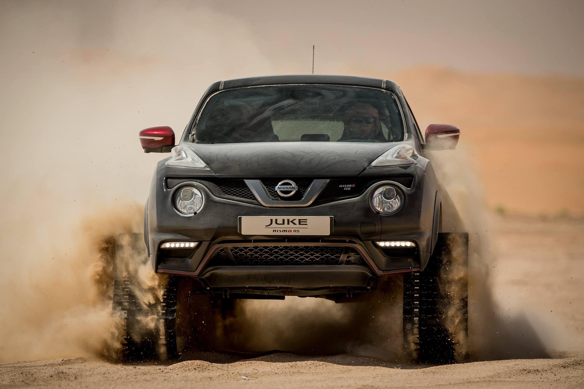Nissan Juke Nismo Rs With Tracks Takes On Abu Dhabi Desert