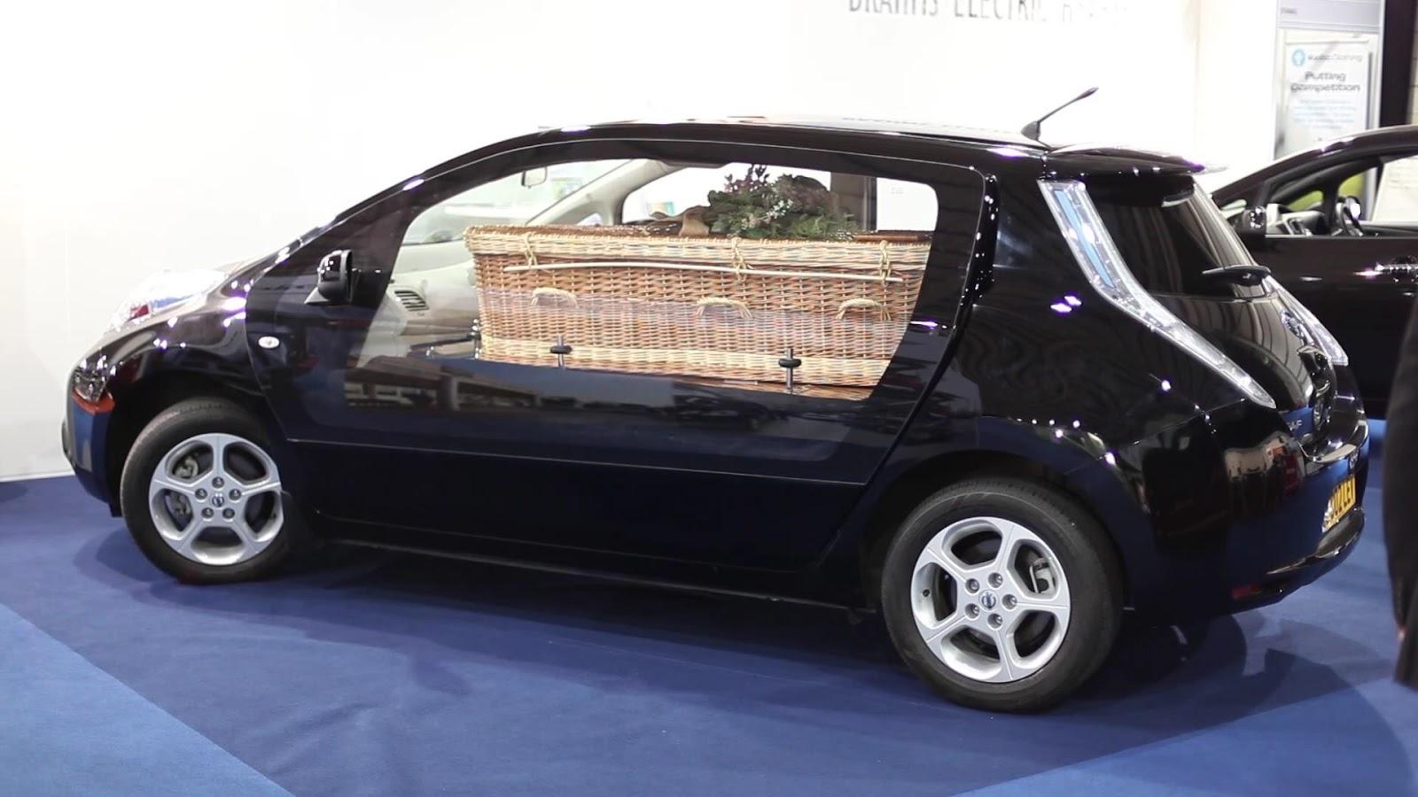 Nissan Leaf Hearse Makes Sense Is A Tad Small Autoevolution