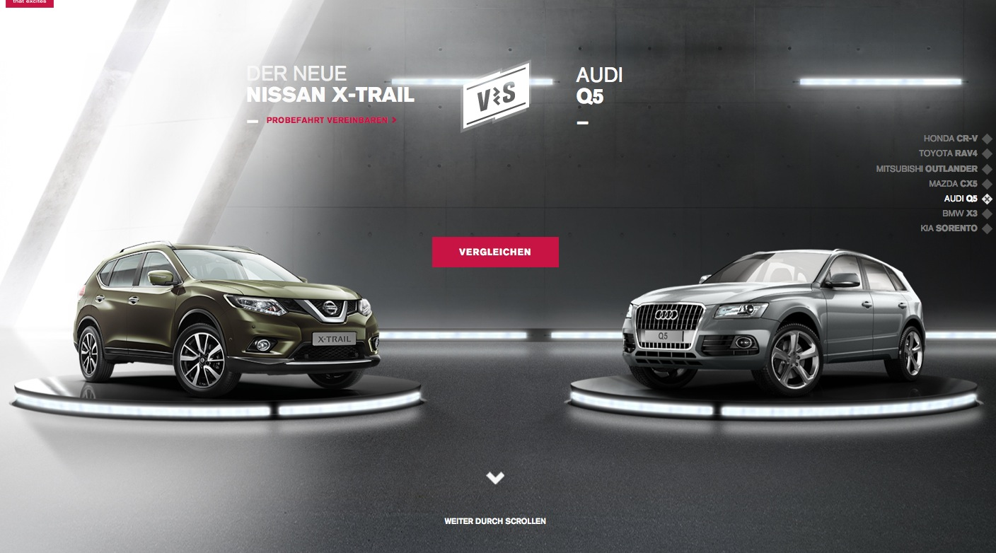 Nissan Website Pits New X Trail Against Japanese And
