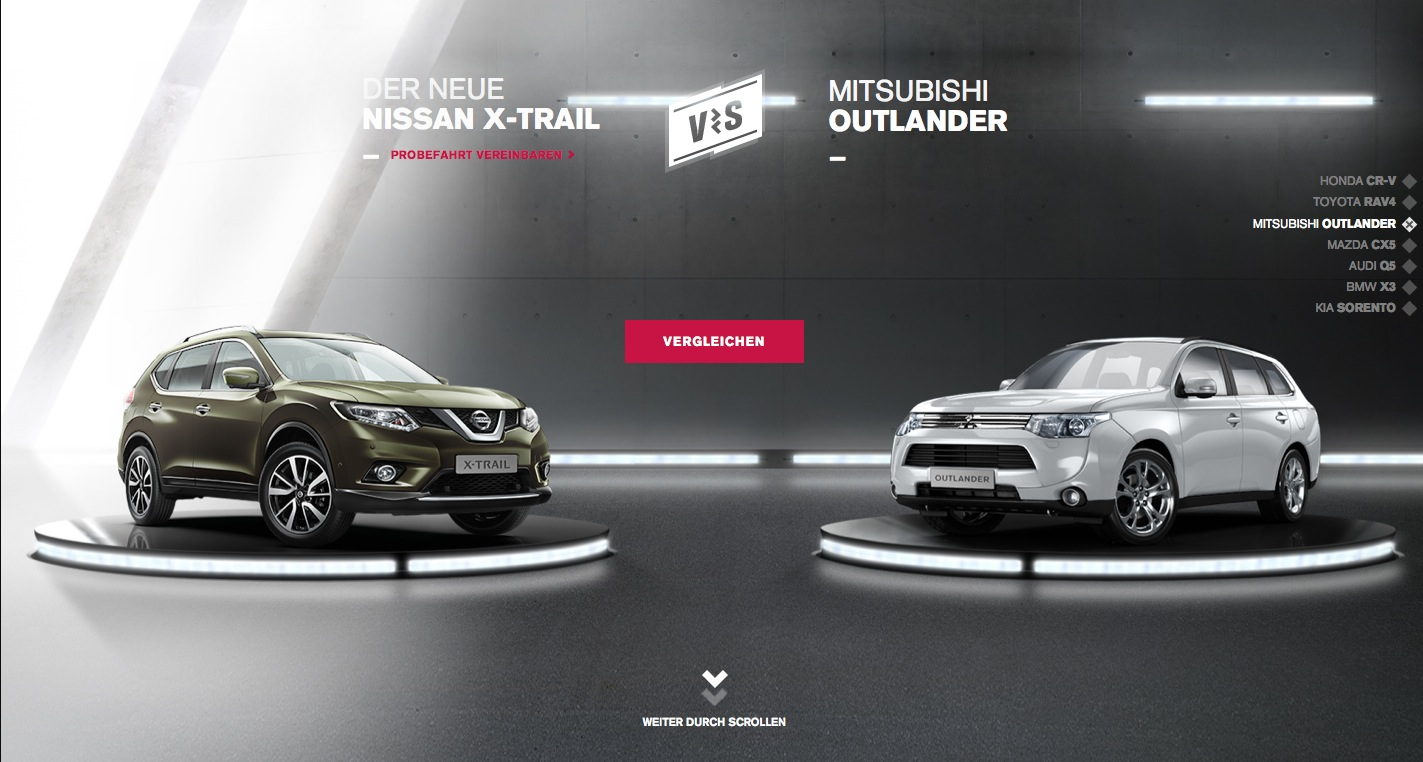 Nissan Website Pits New X-Trail Against Japanese and German Rivals
