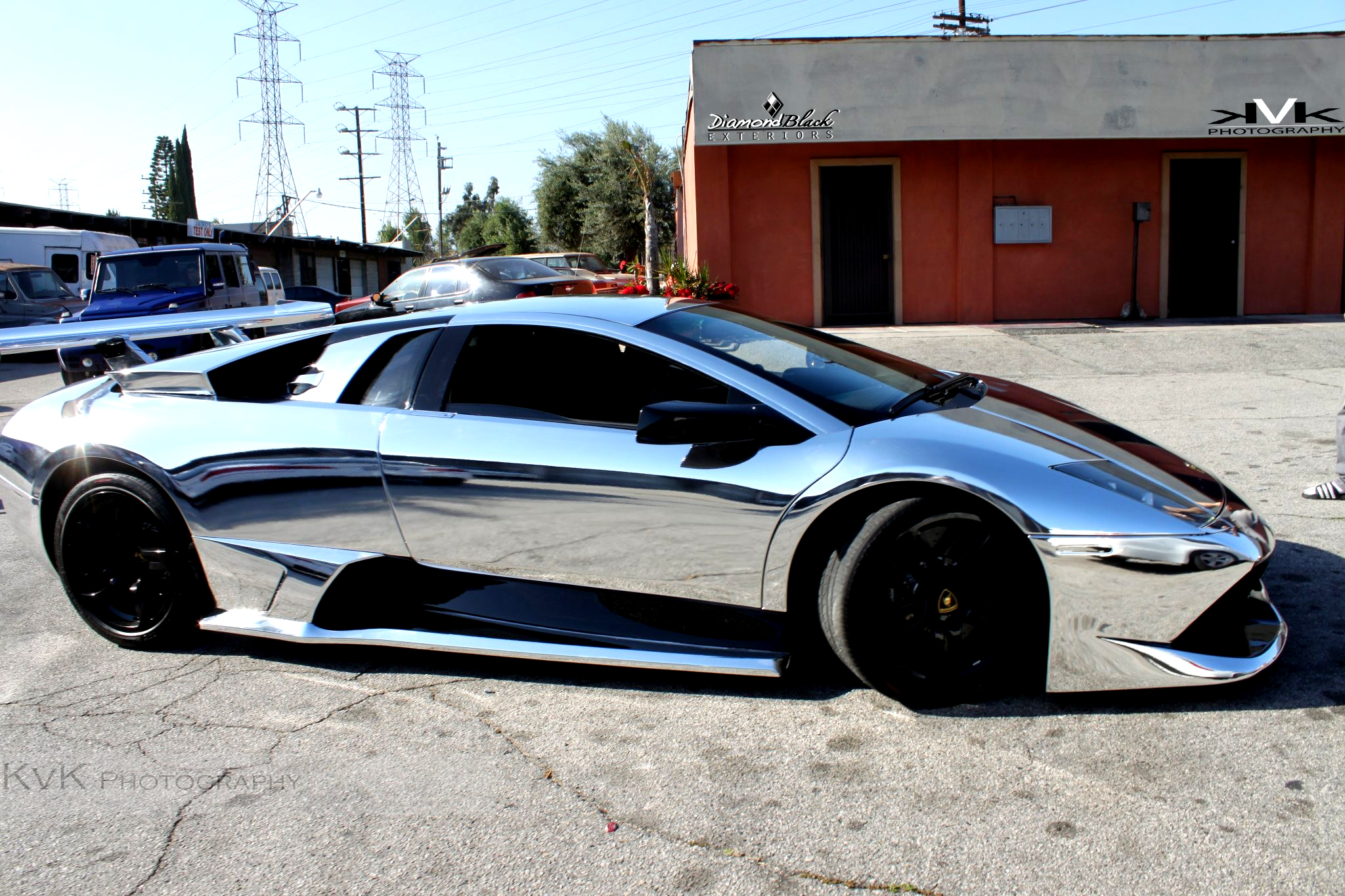 No Mercy For Chrome Wrapped Lambo Murcielago