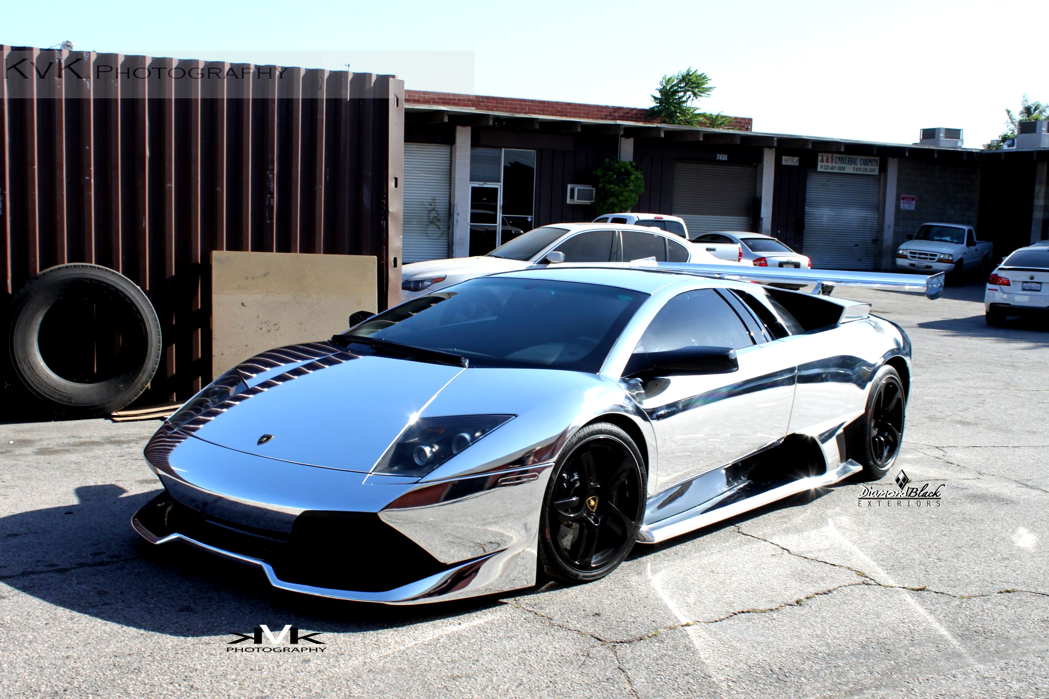 No Mercy For Chrome Wrapped Lambo Murcielago Autoevolution