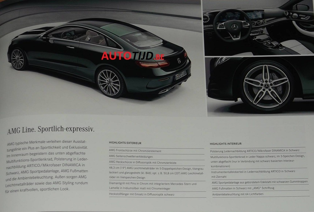 official 2018 mercedes benz e class coupe images leaked from brochure. Cars Review. Best American Auto & Cars Review