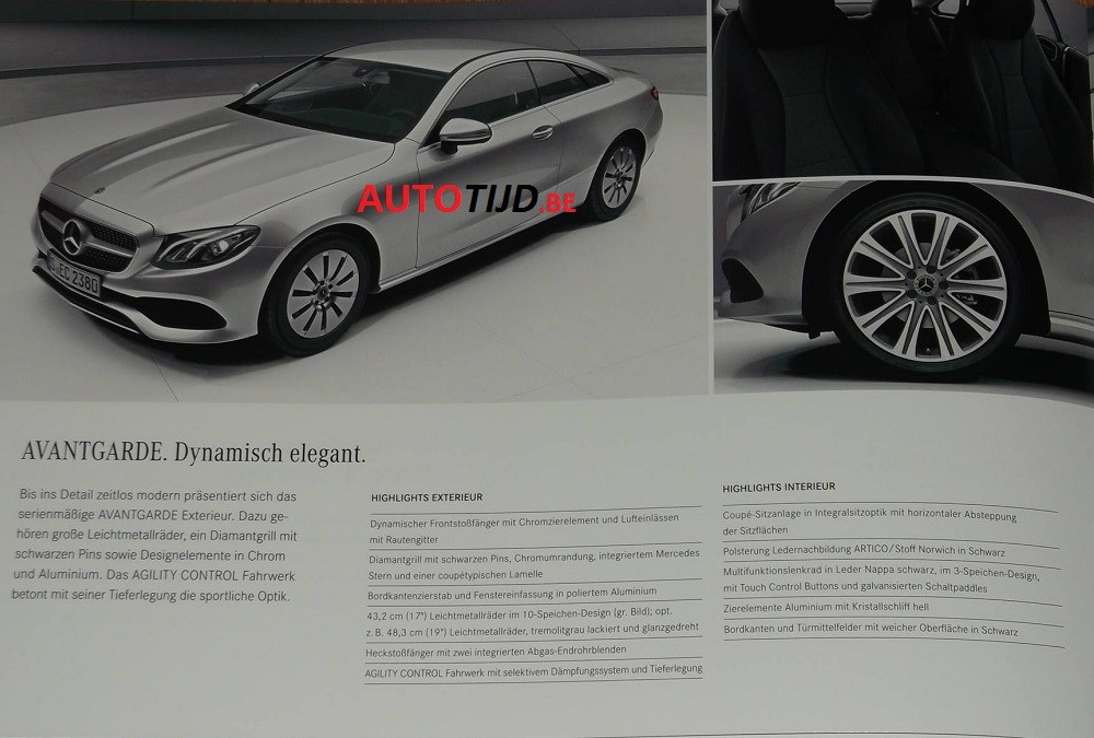 Official 2018 mercedes benz e class coupe images leaked for Mercedes benz e class brochure