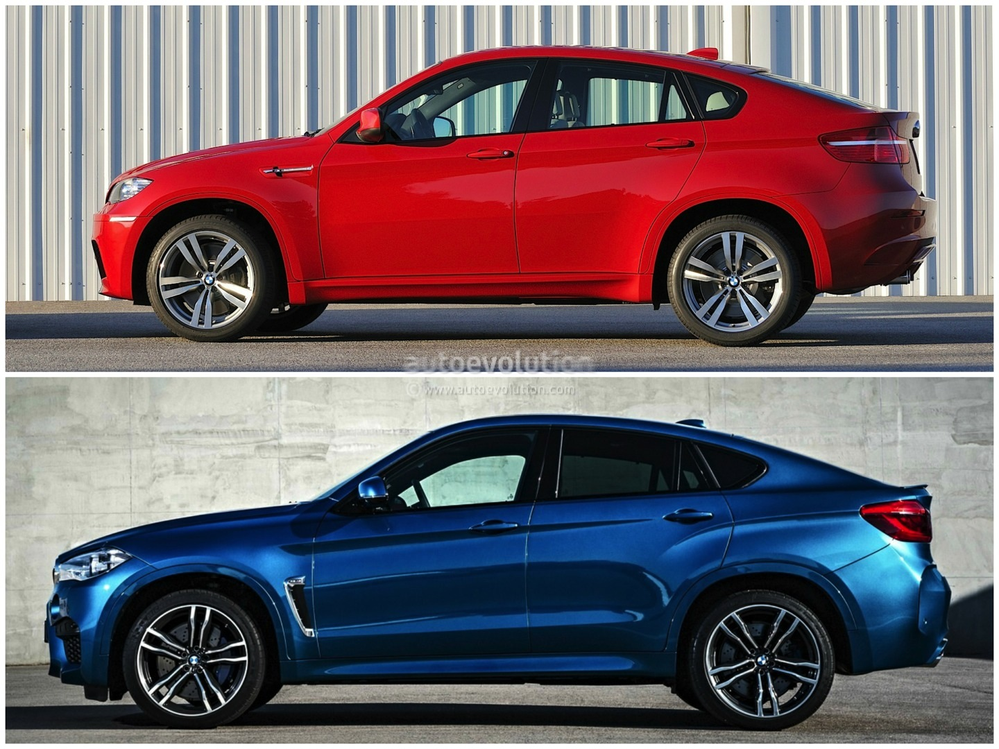 old vs new 2015 bmw x6 m compared to the original photo comparison autoevolution. Black Bedroom Furniture Sets. Home Design Ideas