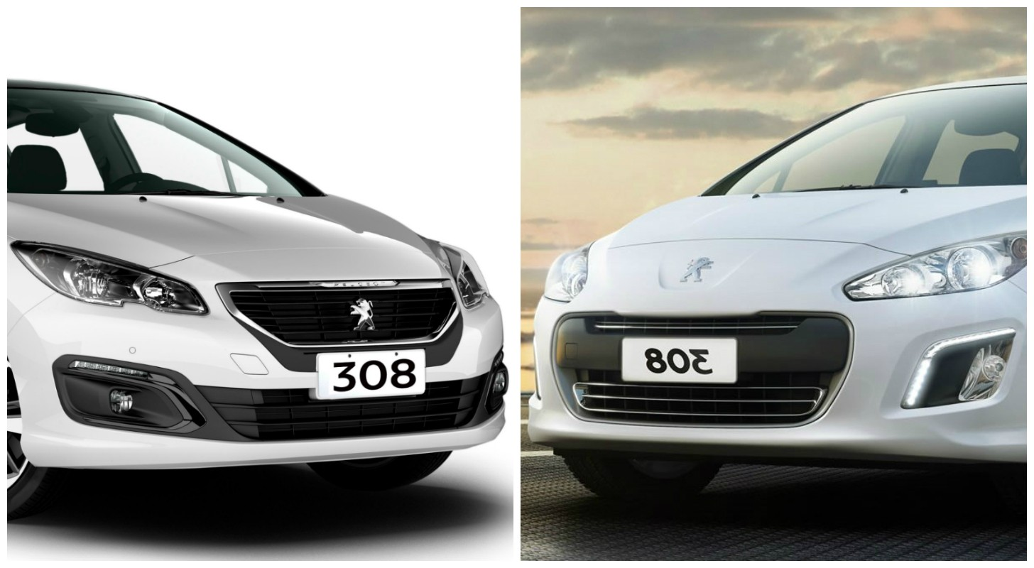 older peugeot 308 and 408 models get a 2016 facelift in. Black Bedroom Furniture Sets. Home Design Ideas