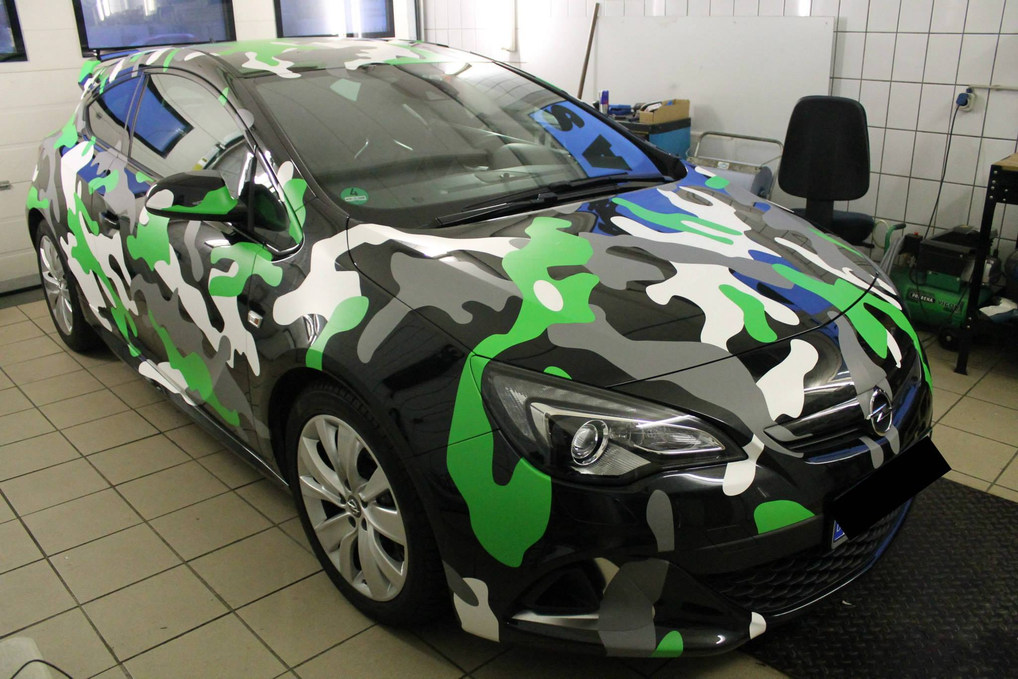 Opel Astra Opc In Camo Wrap Looks Tough