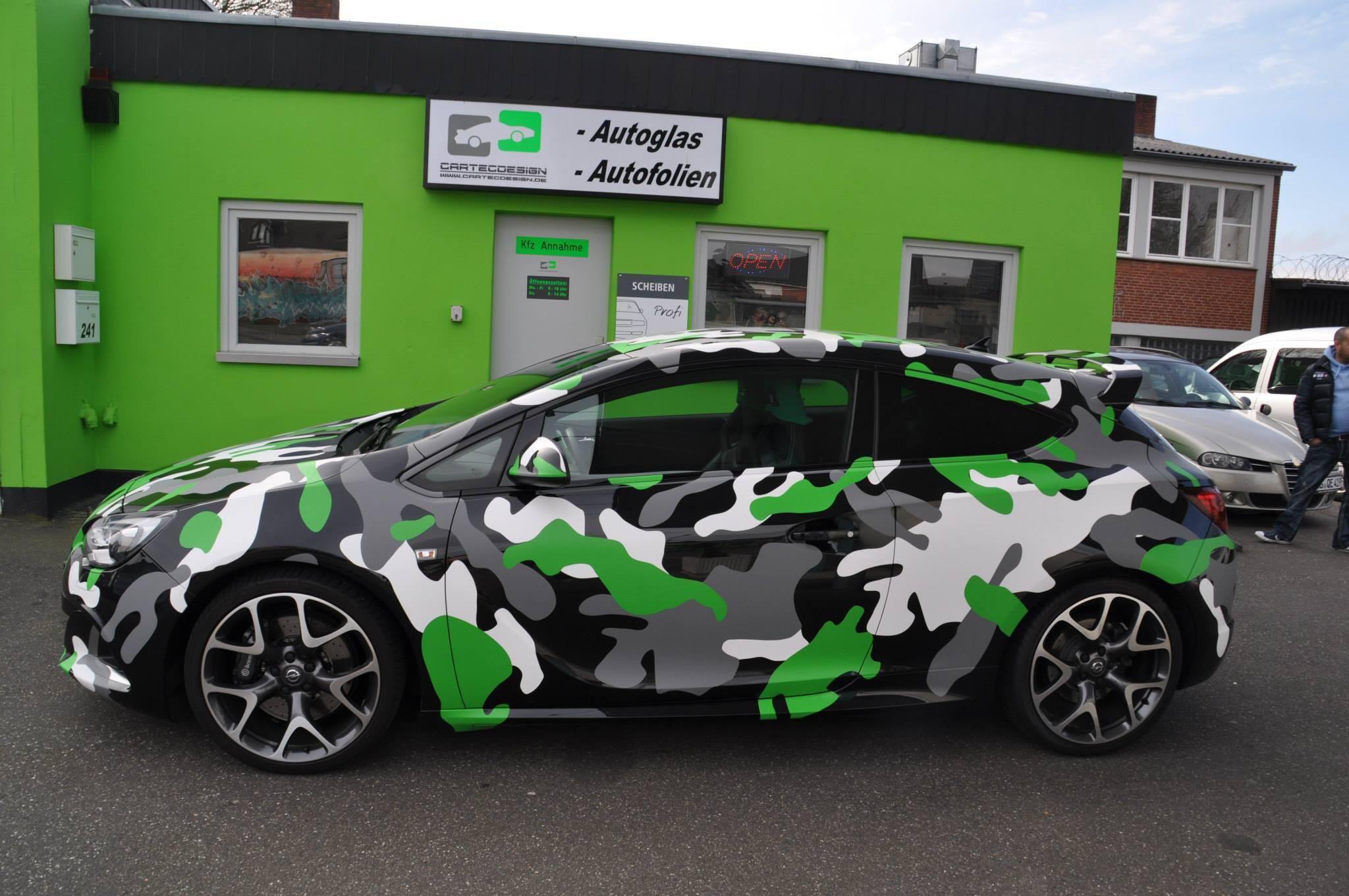 Auto Vinyl Wrap >> Opel Astra OPC in Camo Wrap Looks Tough - autoevolution