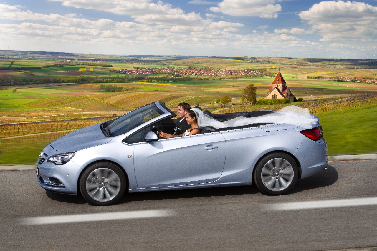 opel says the cascada convertible is a great wedding car. Black Bedroom Furniture Sets. Home Design Ideas