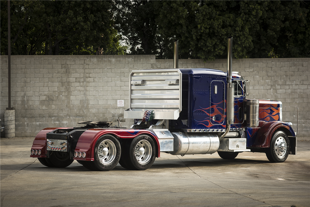 Optimus Prime Peterbilt Truck Bought At Auction By Rick