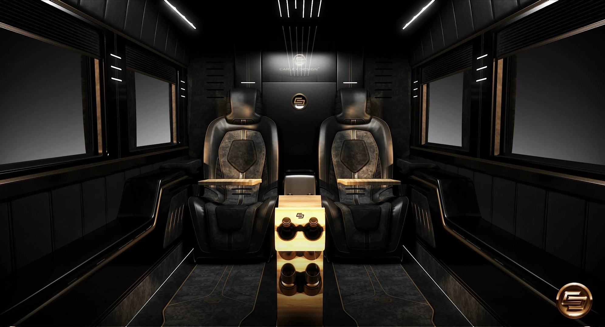 Mercedes Benz Camper >> Opulent Mercedes-Benz Sprinter by Carlex Design [Photo ...