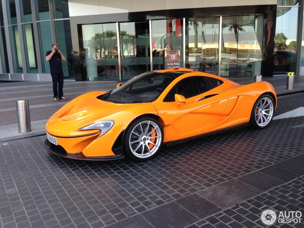 Orange McLaren P1 Spotted in Dubai - autoevolution