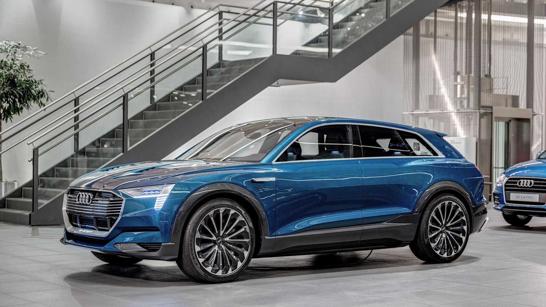Audi E Tron Quattro Concept Arrives At Forum Neckarsulm