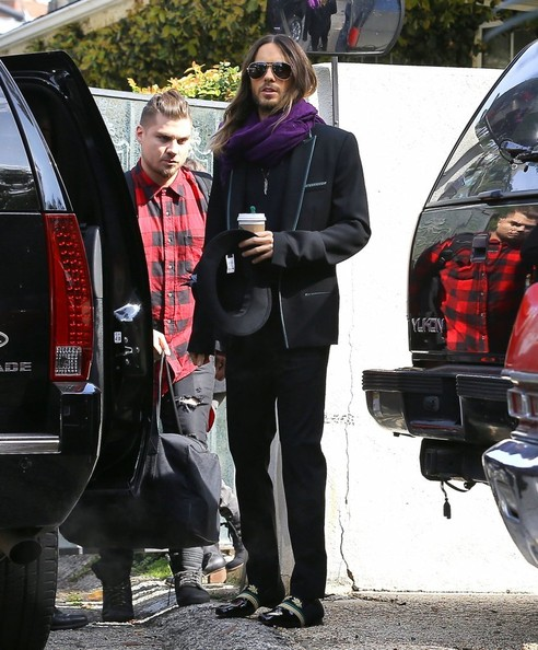 Oscar Winner Jared Leto Heads Off To An Interview In A