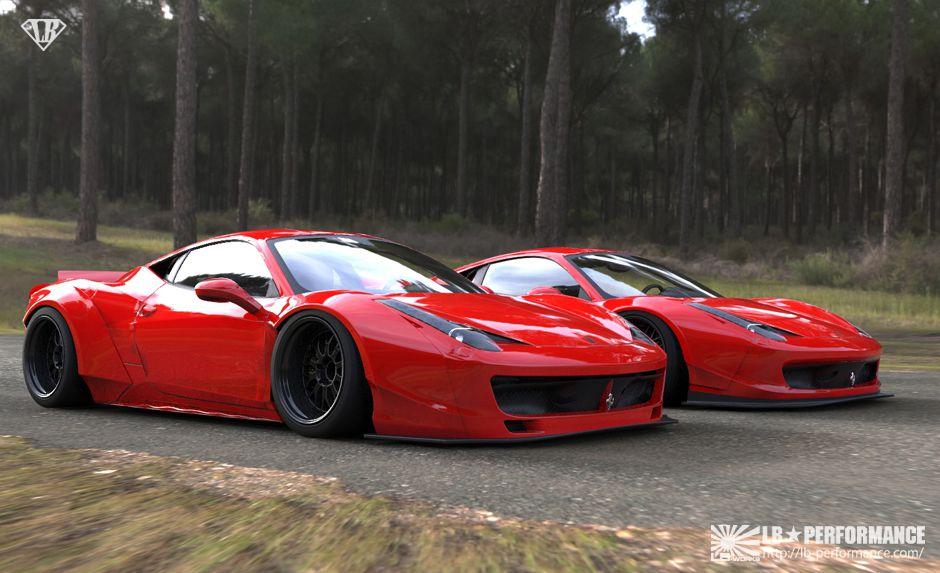 Ouch German Tuner Cuts Ferrari 458 To Install Liberty