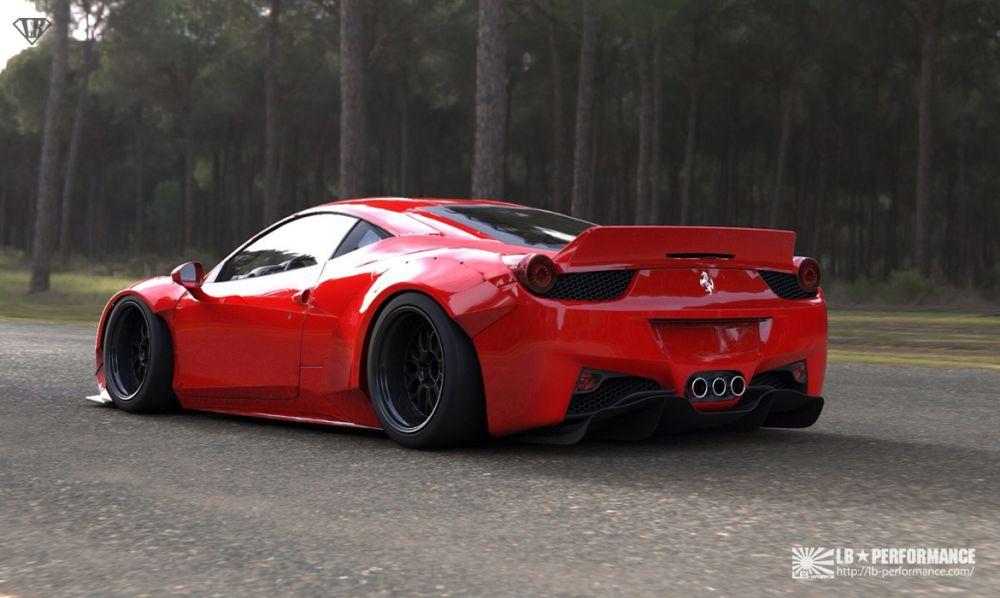 Ouch German Tuner Cuts Ferrari 458 to Install Liberty Walk Kit