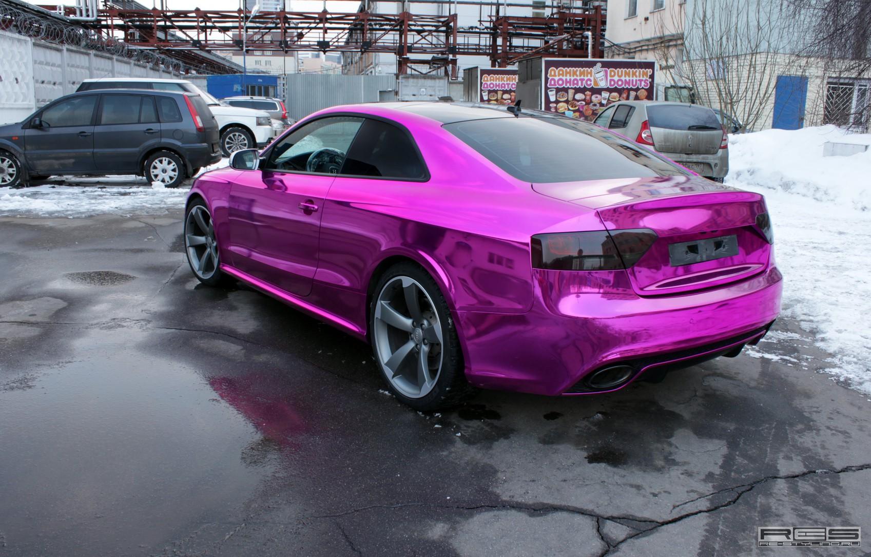 Overkill Audi Rs5 Chrome Purple Wrap Autoevolution
