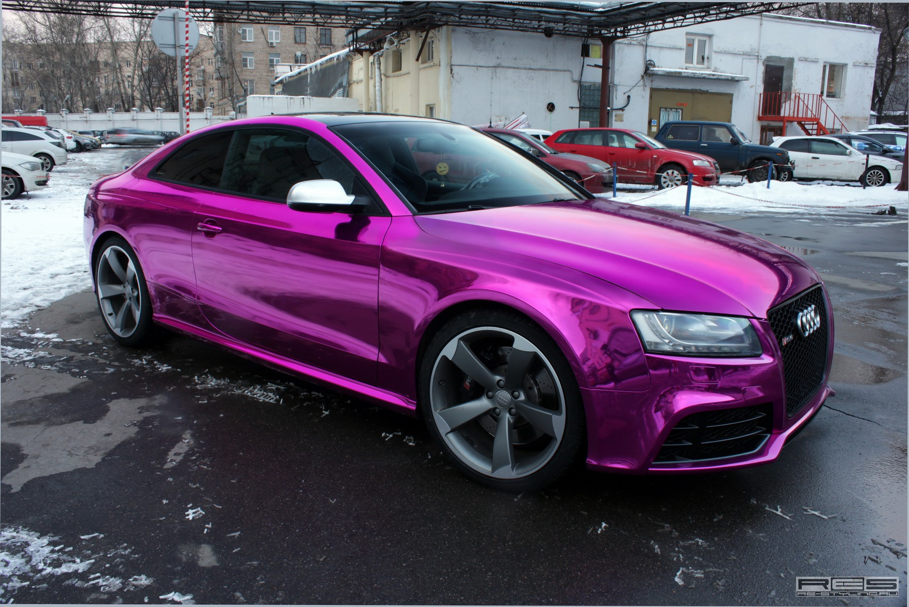 Overkill Audi Rs5 Chrome Purple Wrap Autoevolution