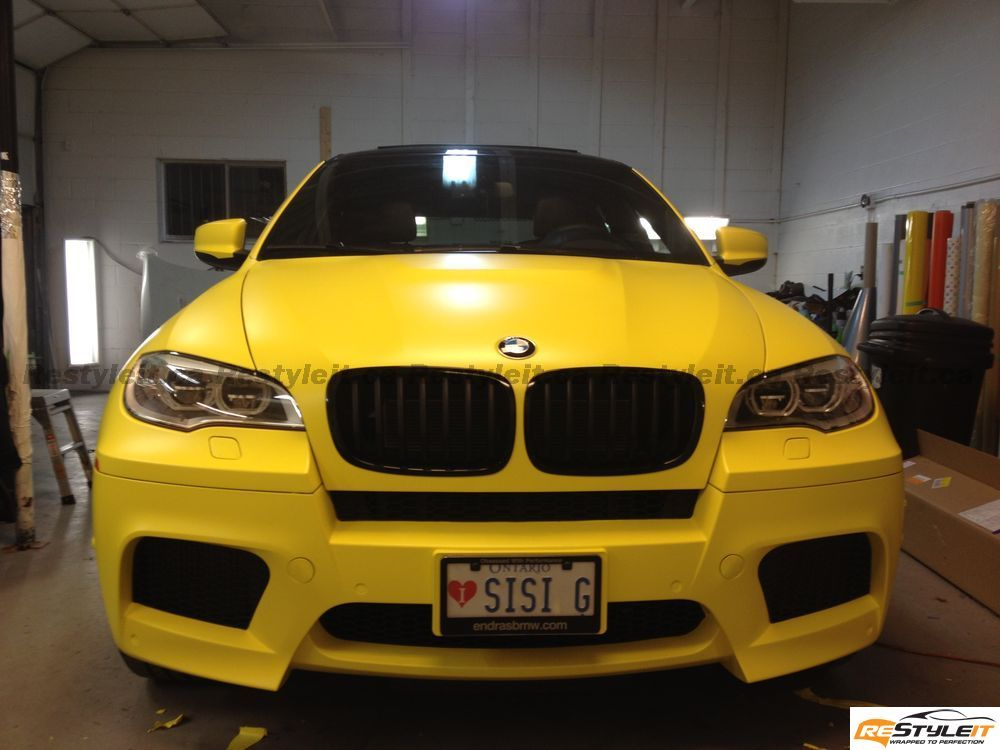 Overkill Bmw X6 M Dressed In Matte Yellow Autoevolution