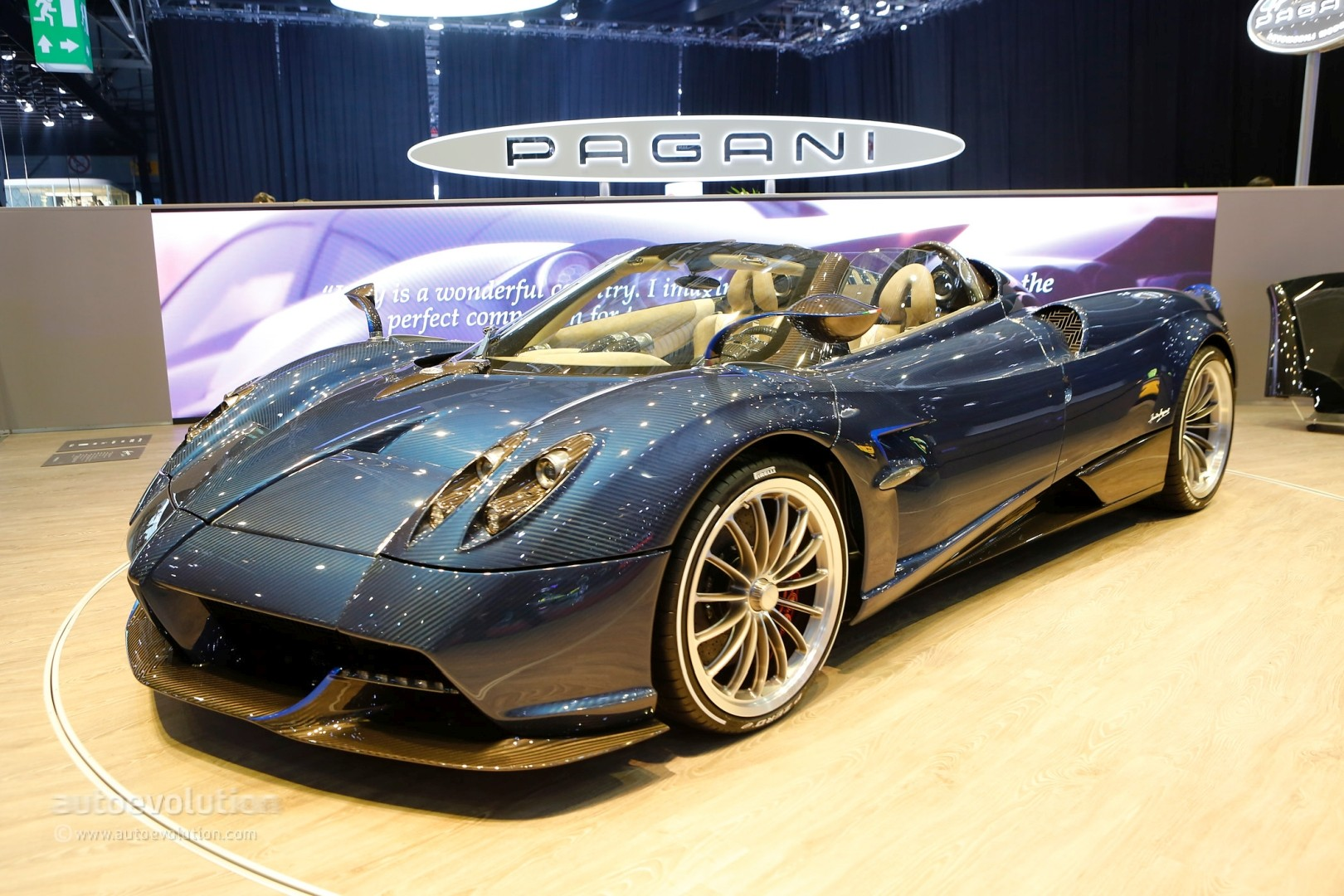 pagani huayra roadster looks like 2 4m in the flesh. Black Bedroom Furniture Sets. Home Design Ideas