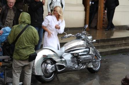 Pamela Anderson Steals All-Chrome Honda Rune... in a Metal ...