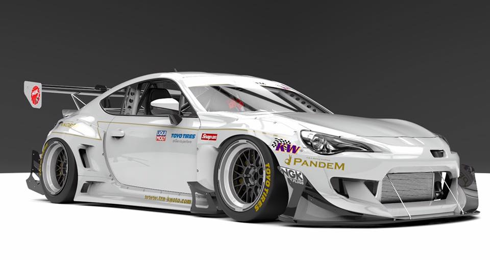 pandem subaru brz racing canard kit is no rocket bunny. Black Bedroom Furniture Sets. Home Design Ideas