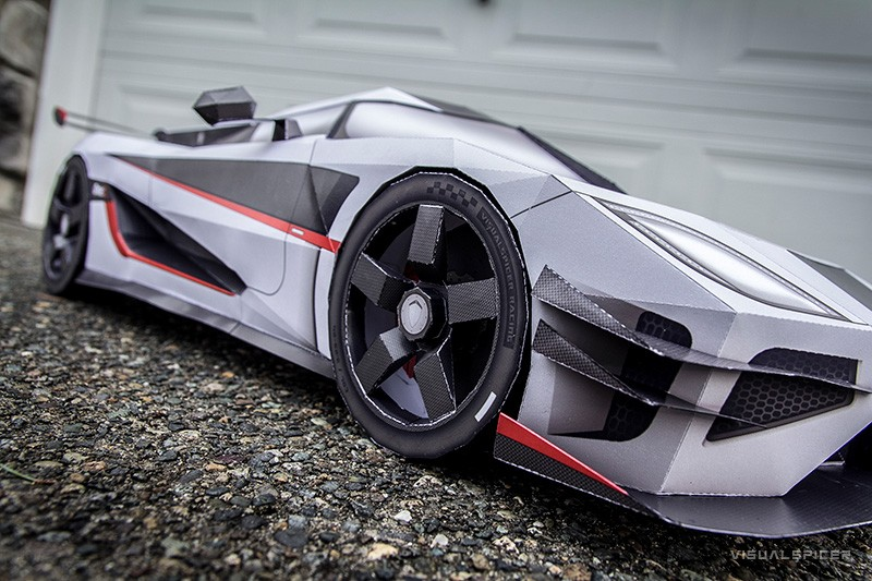 Papercraft Artist Makes McLaren P1 and Koenigsegg One:1, Then Destroys Them - autoevolution