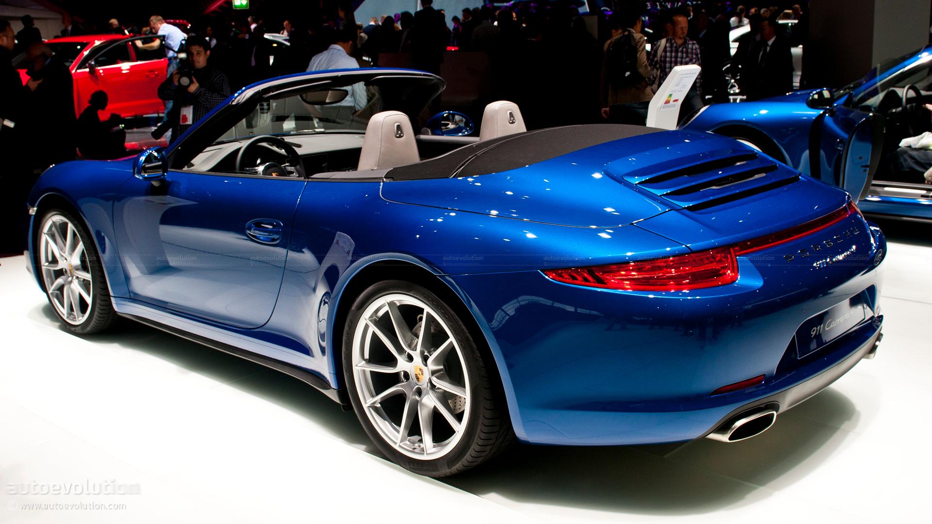 paris 2012 porsche 911 carrera4 cabriolet live photos autoevolution. Black Bedroom Furniture Sets. Home Design Ideas