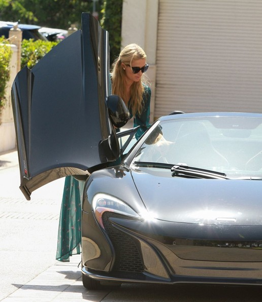 Paris Hilton Takes Her Brand New McLaren 650S Spider For A