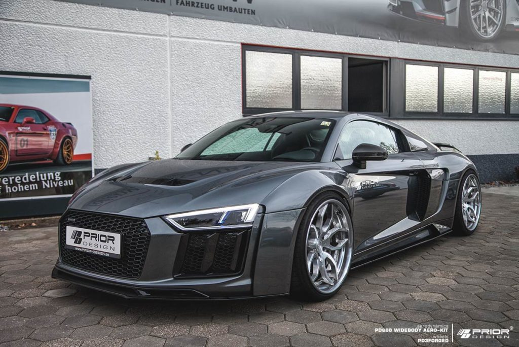 pd800wb audi r8 v10 plus is prior 39 s widebody goodness needs more wing autoevolution. Black Bedroom Furniture Sets. Home Design Ideas