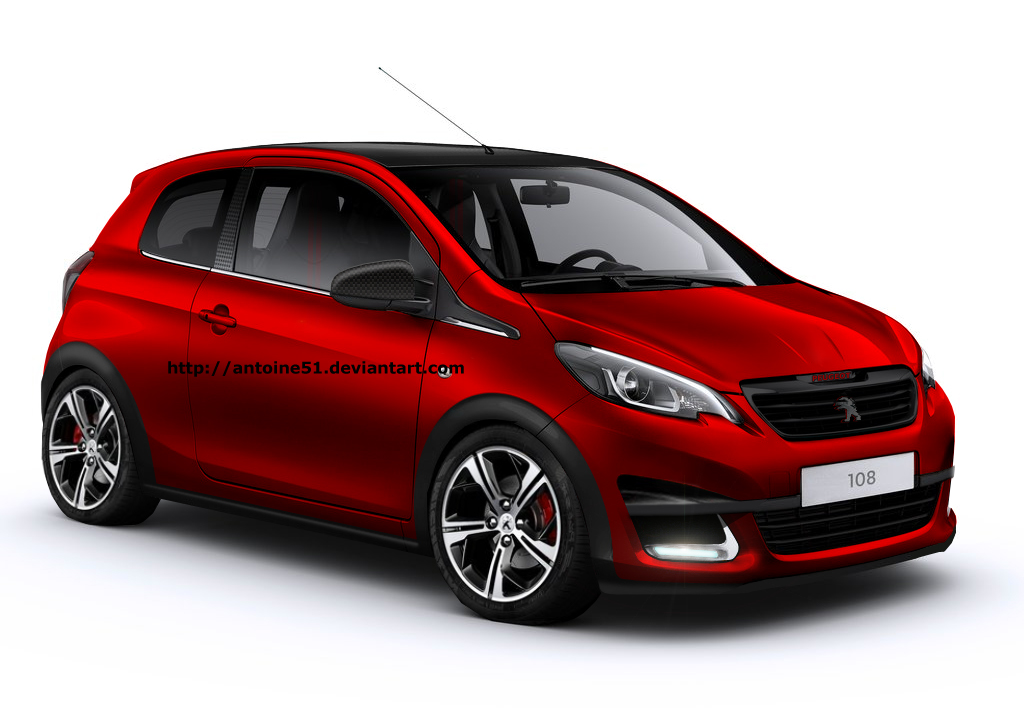 Peugeot 108 GTi Rendering Takes You Back To The Saxo VTS