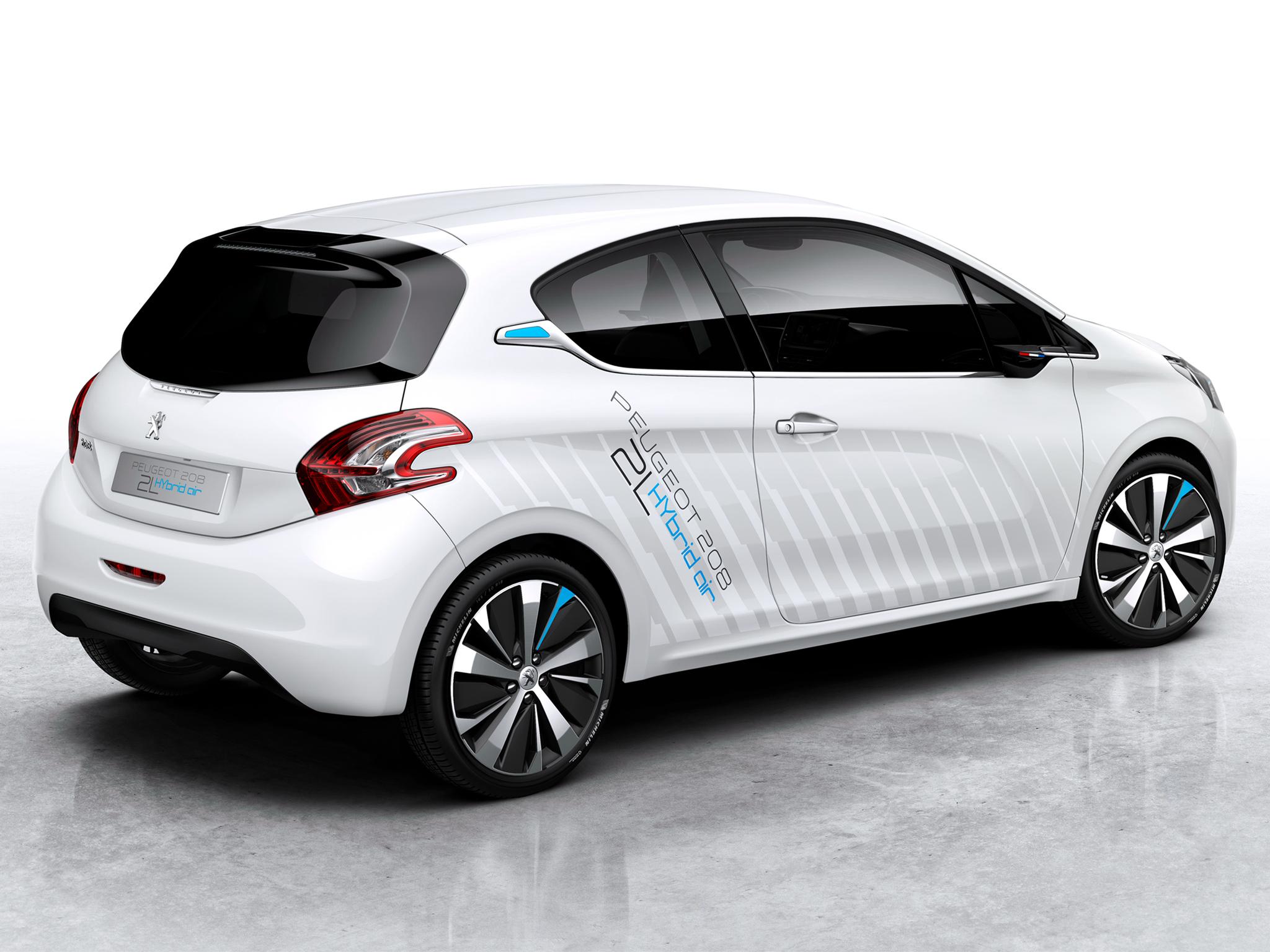 peugeot 208 hybrid air concept revealed ahead of paris. Black Bedroom Furniture Sets. Home Design Ideas