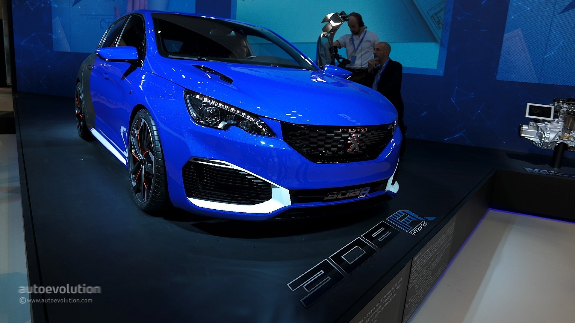 peugeot 308 r hybrid is a rare mix between supercar and hot hatch