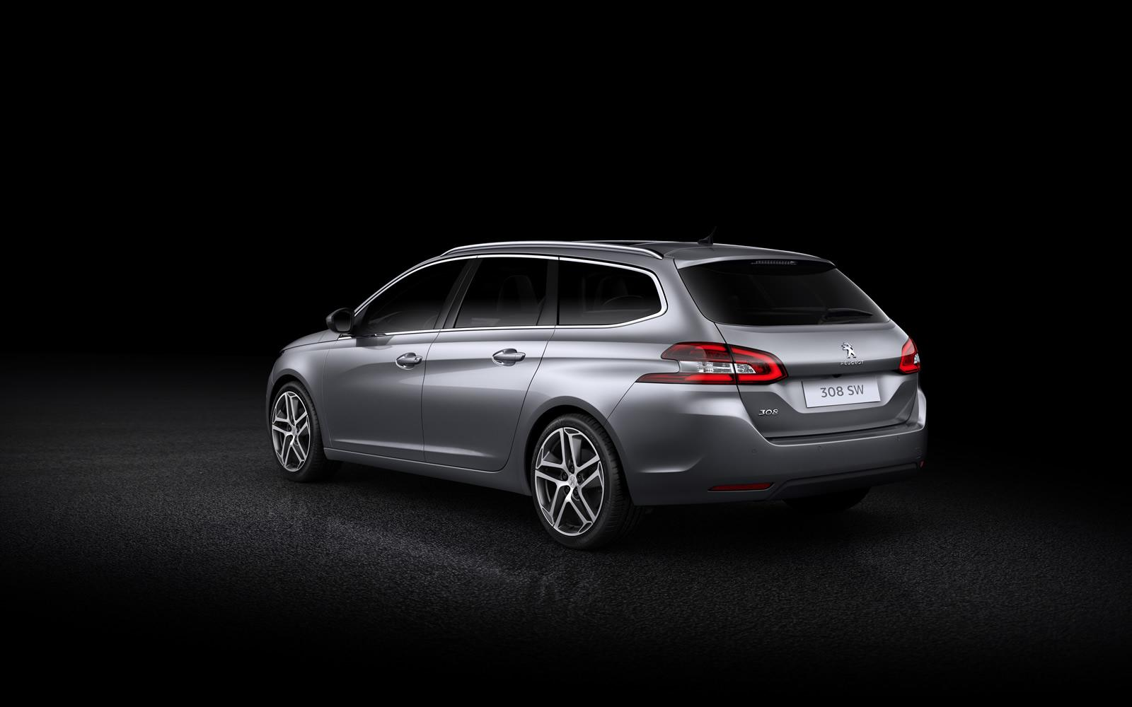 peugeot 308 sw revealed with 610 liters of cargo space. Black Bedroom Furniture Sets. Home Design Ideas