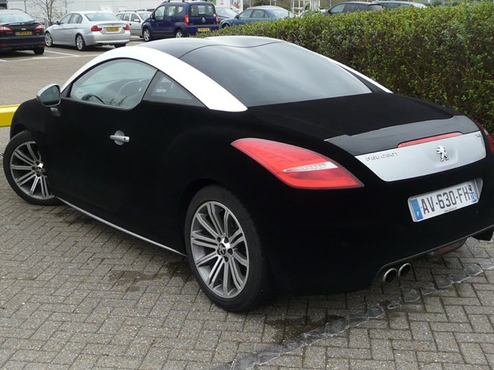 Peugeot Rcz Wrapped In Black Velvet Autoevolution
