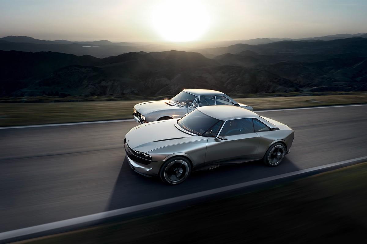peugeot revives the 504 coupe as autonomous all electric e legend concept autoevolution. Black Bedroom Furniture Sets. Home Design Ideas