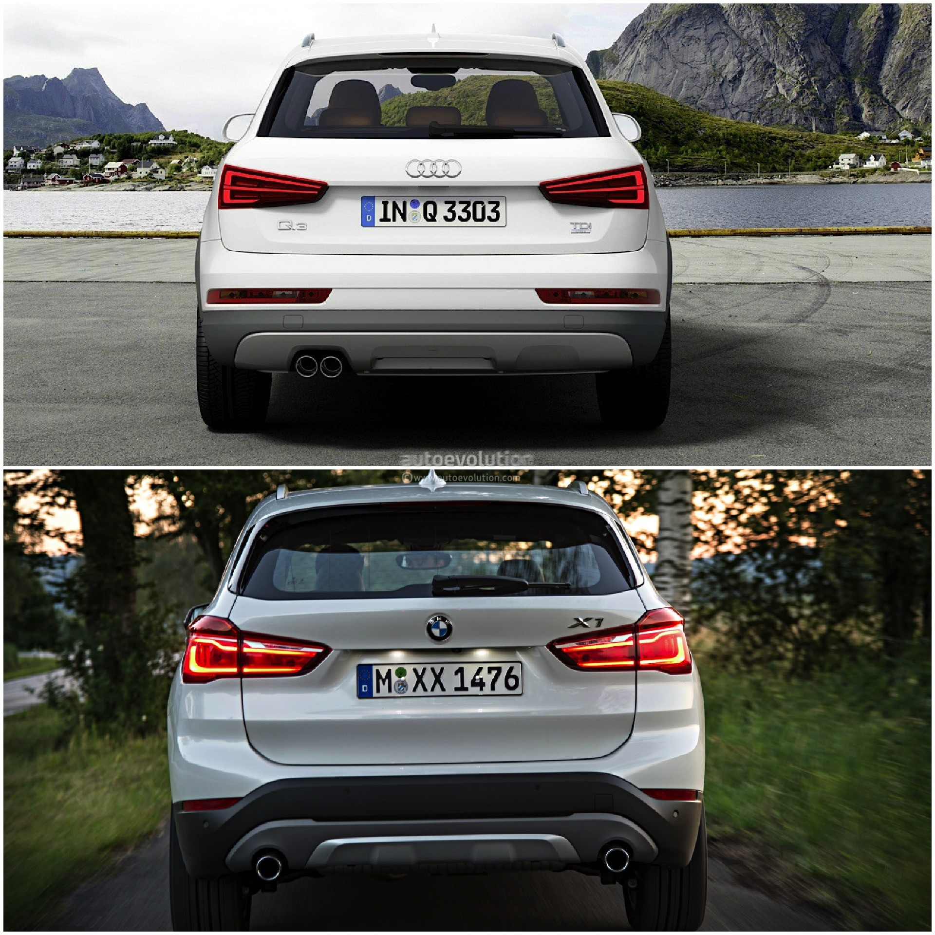 Photo Comparison 2015 Bmw X1 Versus 2015 Audi Q3