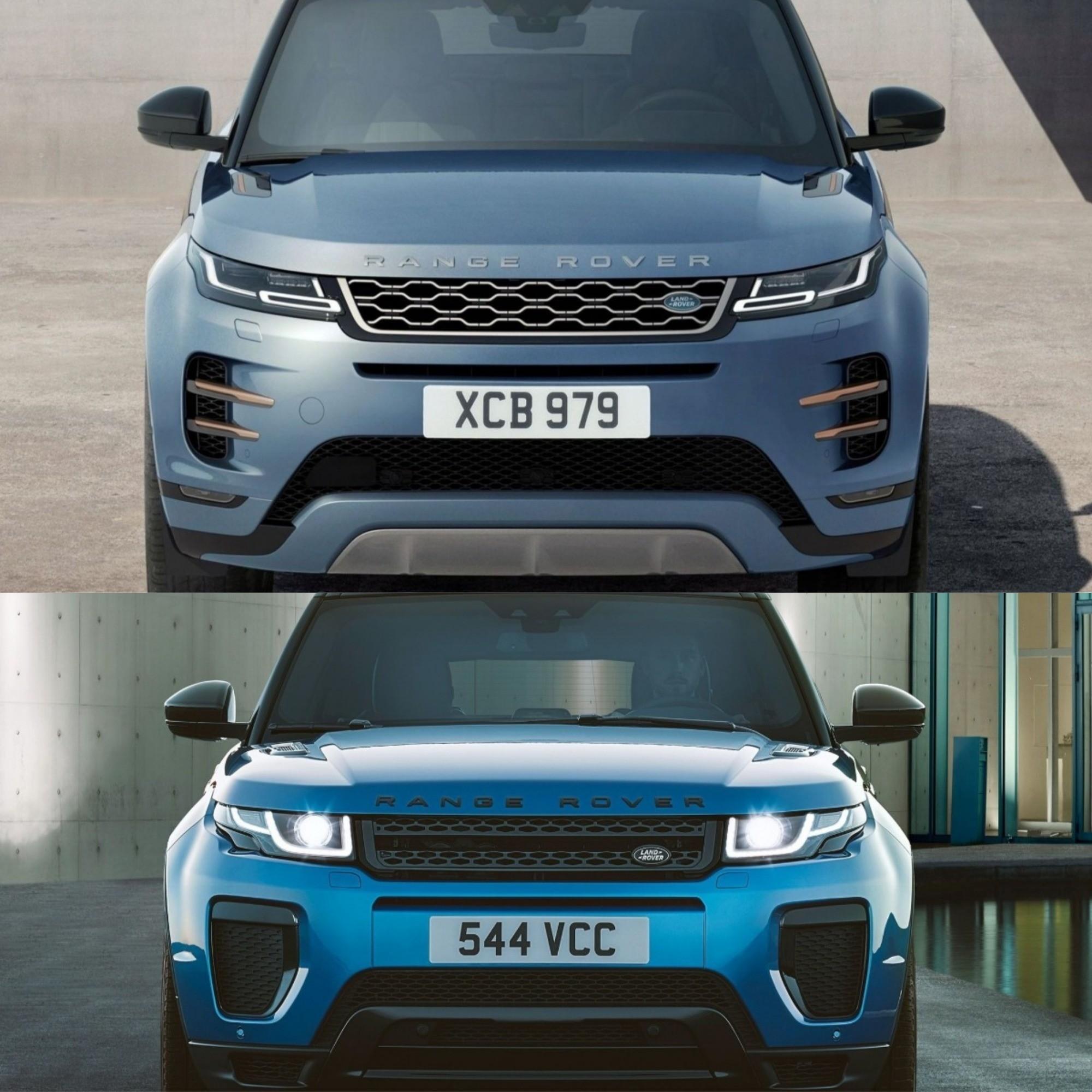 Photo Comparison: 2020 Range Rover Evoque Vs. 2015 Range