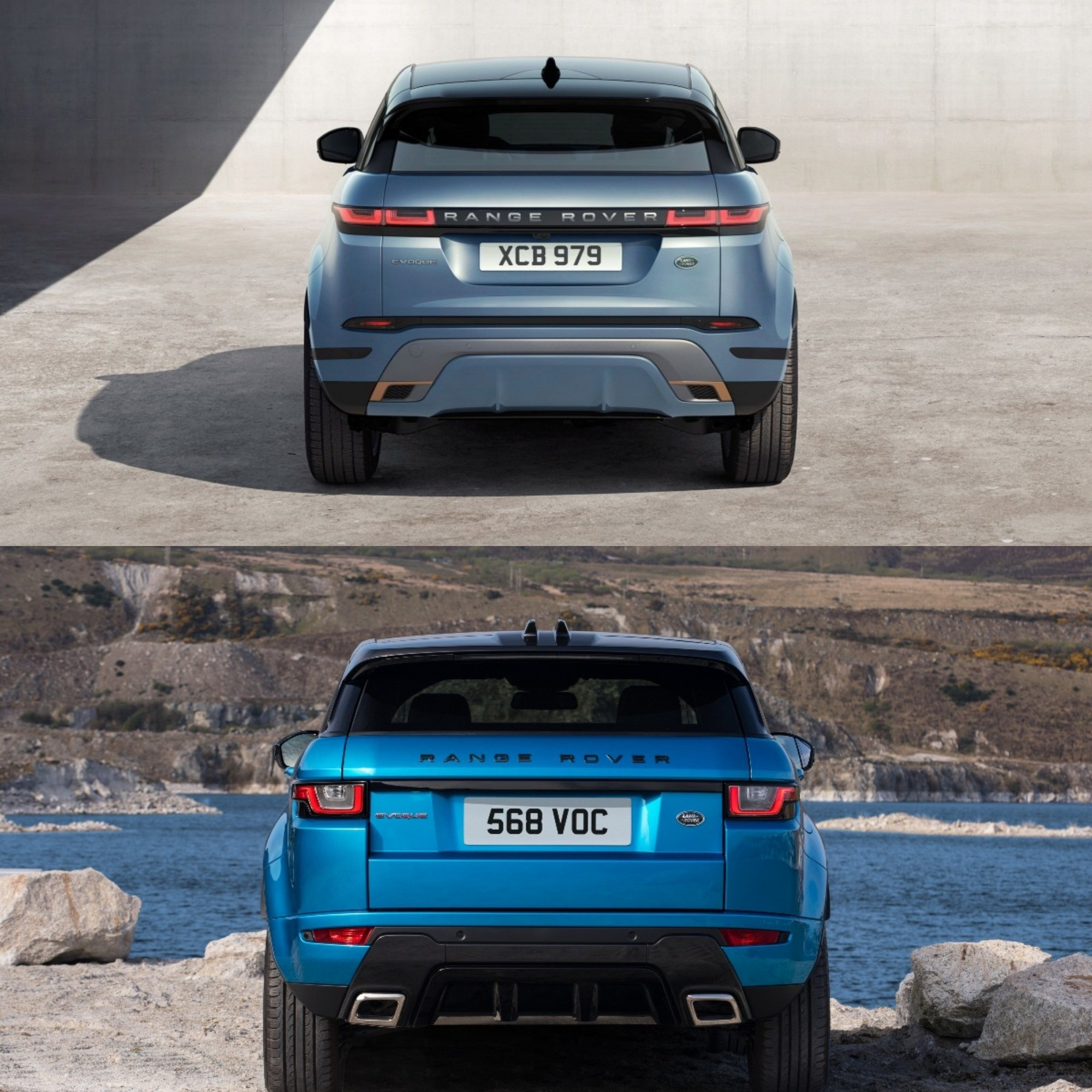 Photo Comparison: 2020 Range Rover Evoque Vs. 2015 Range