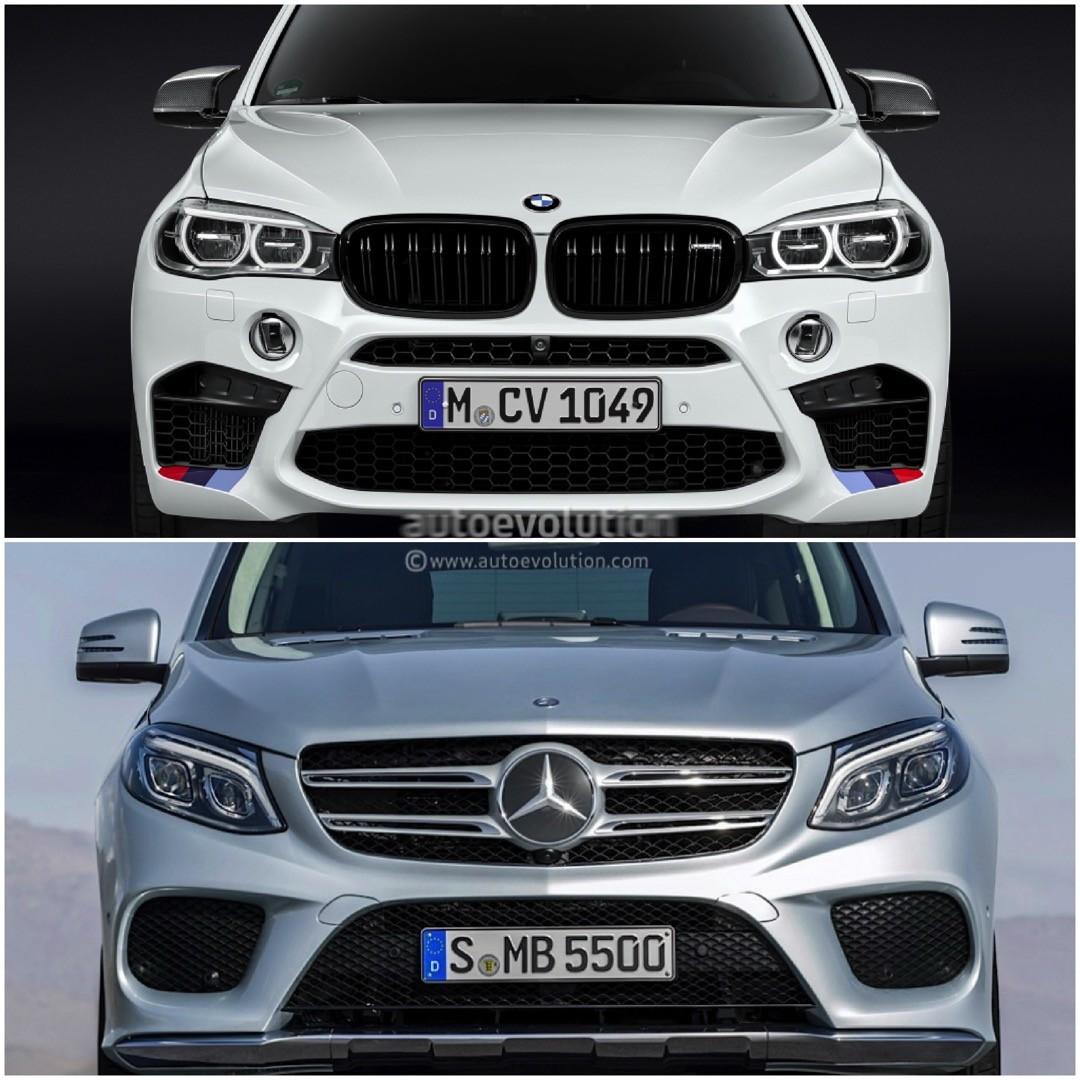 Bmw Xm5: Photo Comparison: BMW F15 X5 Vs Mercedes-Benz GLE